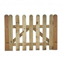 Puerta madera para vehículos
