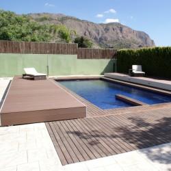 Cubierta plana de piscina
