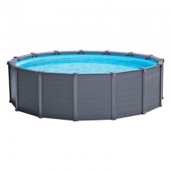 Piscina desmontable Graphite Panel redonda 478x124 depuradora arena Intex 26382NP