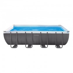Piscina desmontable Ultra Frame rectangular 549x274x132 con depuradora Intex 26352NP