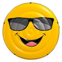 Colchoneta hinchable redonda Emoji Intex
