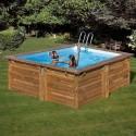 Piscina de madera GRE cuadrada Carra Wooden Pool GRE 790093