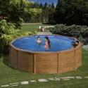 Piscinas Redondas Imitación Madera - Altura 120 cm