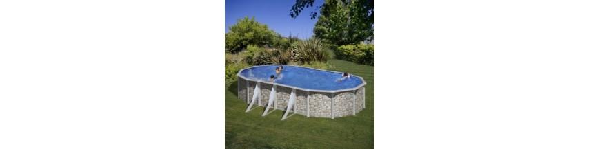 Recambios piscinas ovaladas piedra 120 cm 610x375x120 for Recambios piscinas desmontables