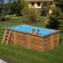 Piscinas de madera rectangulares