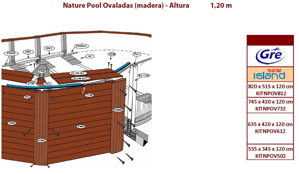 despiece piscinas madera